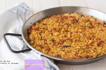 Creamy rice recipe with chicken and chistorra, a dish that is an explosion of flavor