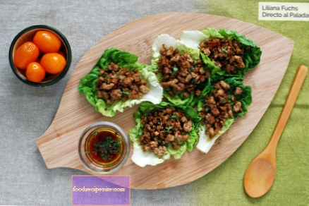 Lettuce bud tacos with spicy pork: low carb gluten free recipe